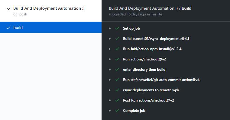 Automatiser avec Github Actions 14 - Webpick