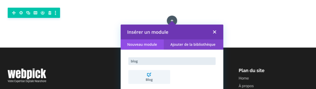 Créer la page de blog - Divi 3 - Webpick