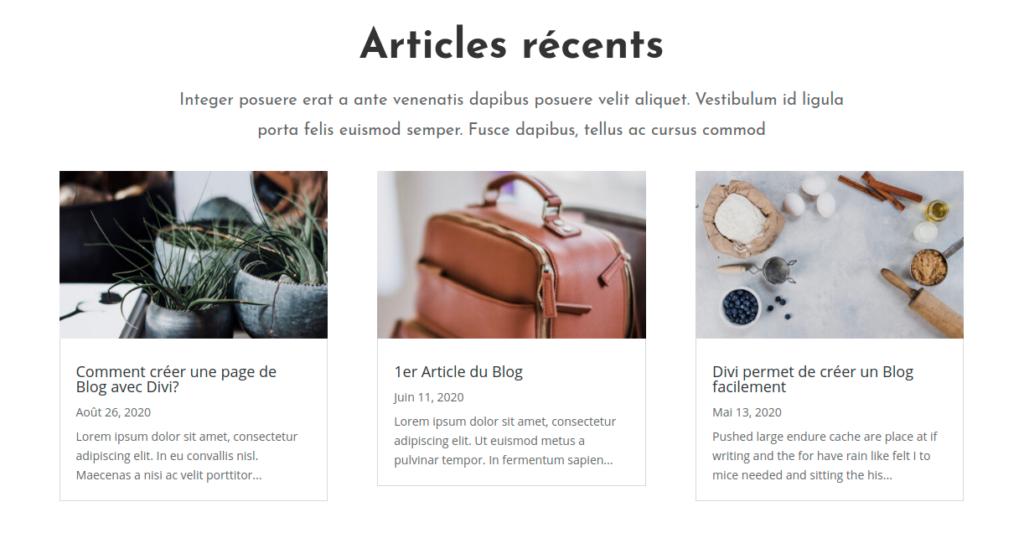 Créer la page de blog - Divi 11 - Webpick