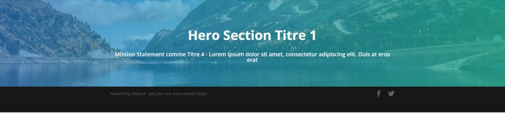 Créer une Hero Section - Divi 13 - Webpick