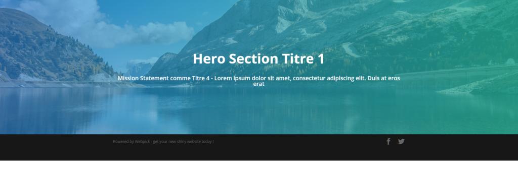 Créer une Hero Section - Divi 15 - Webpick