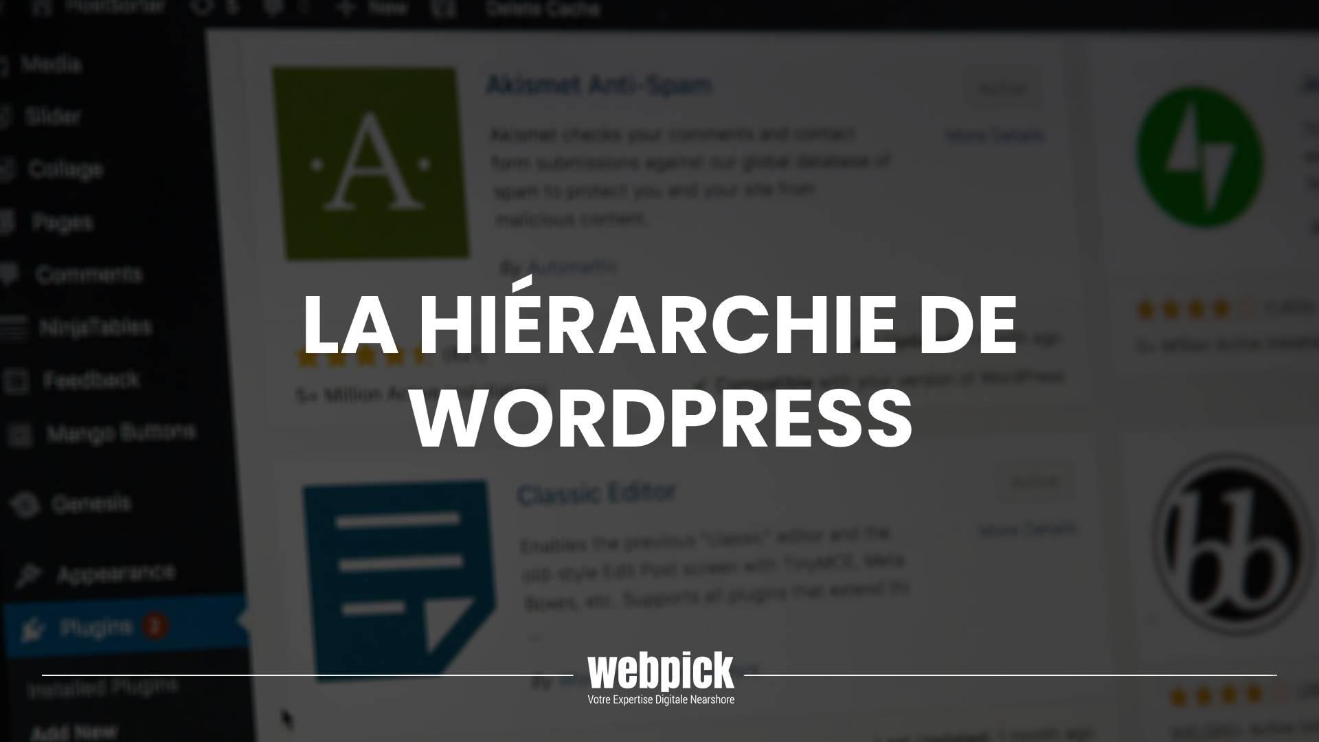La Hiérarchie de WordPress