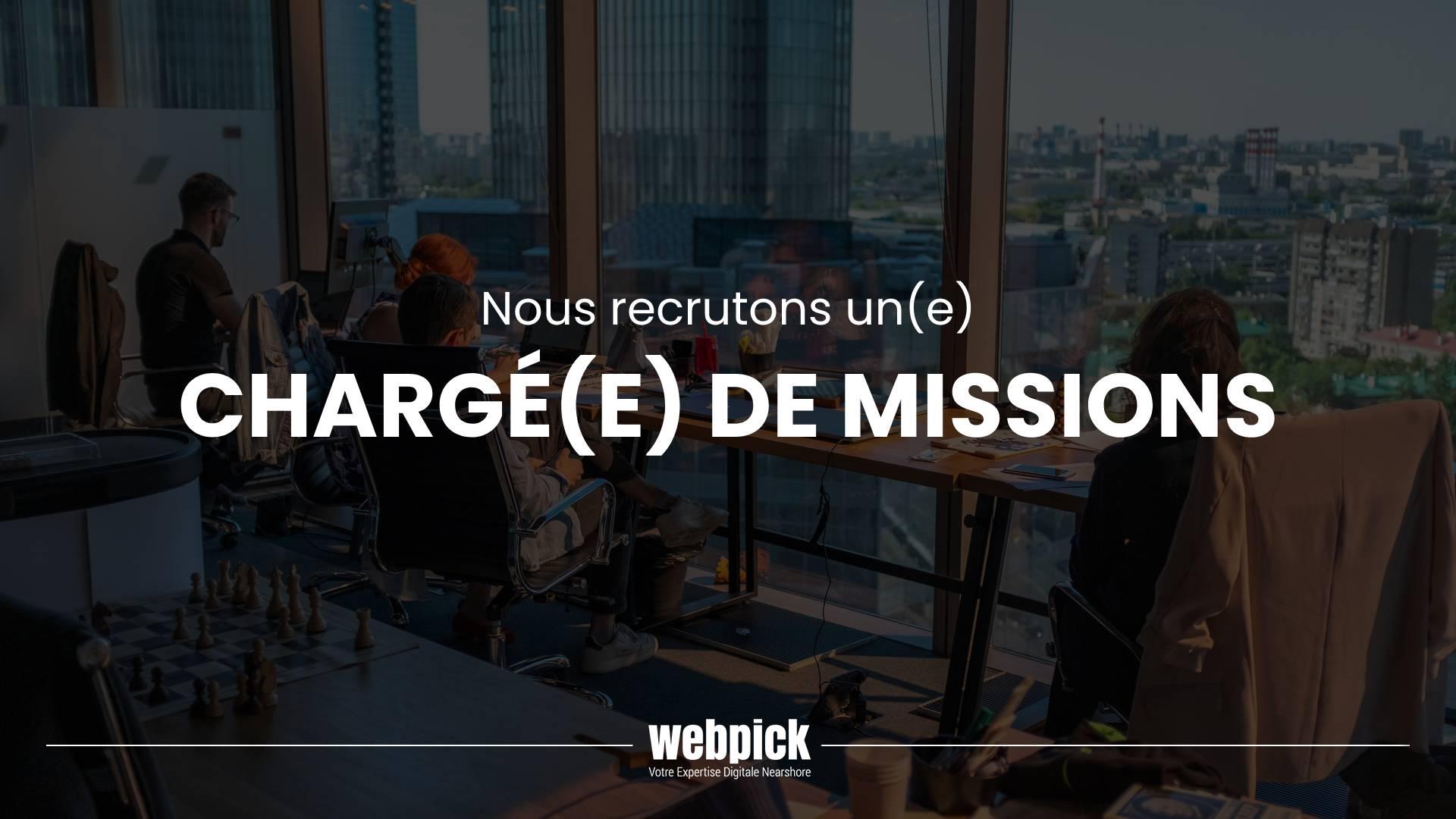 Chargé(e) de Missions – Recrutement